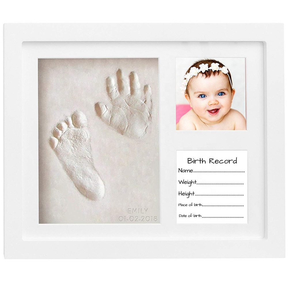 Baby Memory Hand Print And Footprint Casting kit For Newborn Girls and Boys