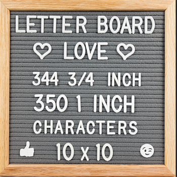 Hot Sale Home Decorative Creative changeable Sign slotted customized Felt Message Letter Board With Wooden Frame