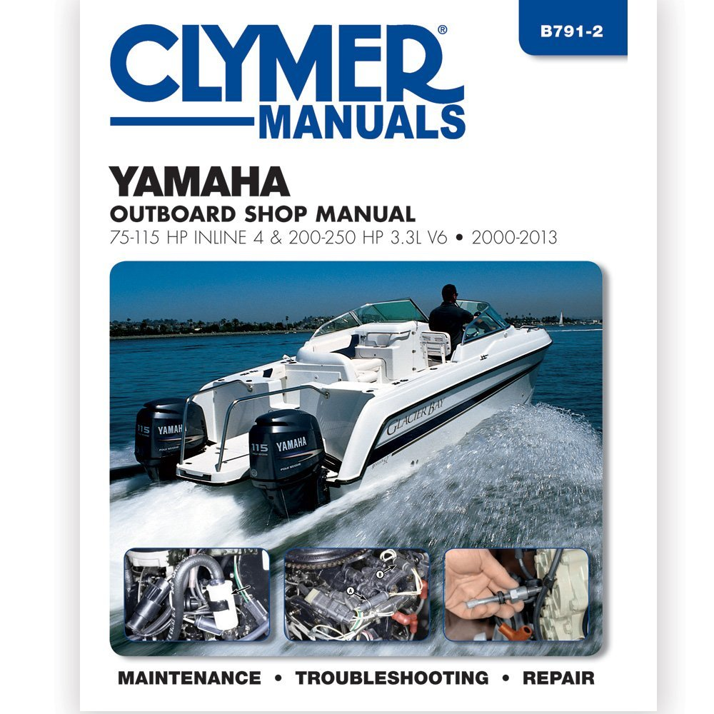 Get Quotations · Clymer Yamaha 75-115 & 200-225 HP Fourstroke Outboard  2000-2013