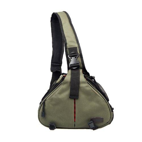 Docooler Caden K1 Waterproof Fashion Casual DSLR Camera Bag Case Messenger Shoulder Bag for Canon Nikon Sony (Army Green)