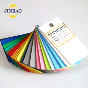 JINBAO white board black pvc extrude board 1.5mm 2mm 3mm 0.5 density customized pvc foam sheet