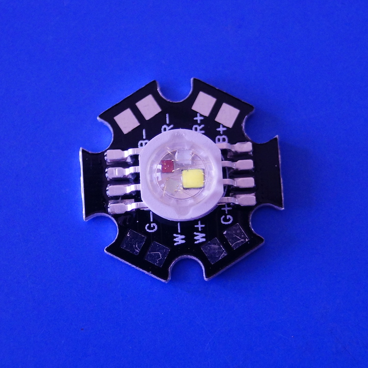 4x3w RGBW High Power LED With 20mm PCB board
