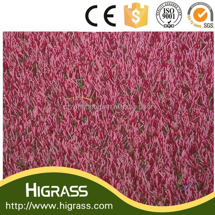 Artificial Color Grass for Big Events Decoration --- Pink and Green