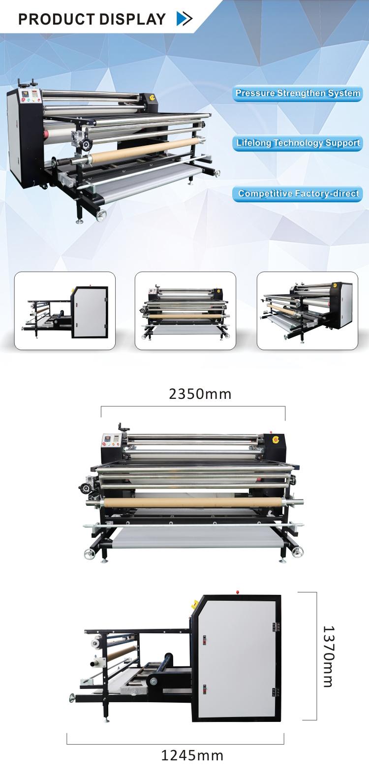 ใบรับรอง CE ร้อนขายที่มีคุณภาพสูงขนาดใหญ่ระเหิดเสื้อยืดพิมพ์เครื่องกดความร้อน