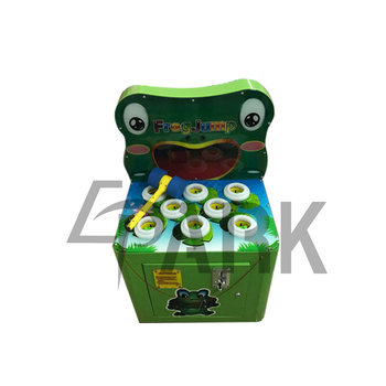 coin operated whack the mole lottery machine frog jump game