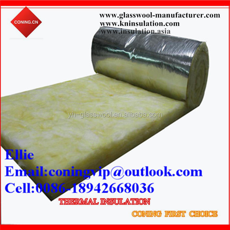 Glass wool fireproof wrap duct insulation