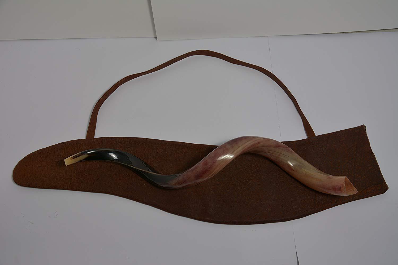 """Leather Exclusive Shofar BAG 100% Natrel Skin Shofar Bag 100 Cm 40"""""""