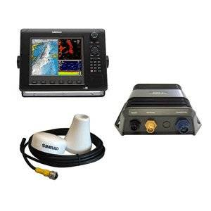 Simrad NSE8 Fishing Pack Consists of NSE8 Multi-Function Display, GS15 GPS Antenna, and BSM-1 Broadband Sounder Module