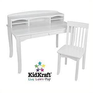 Buy Desk with Hutch and Chair This Kids Neat White Wooden Desk Set