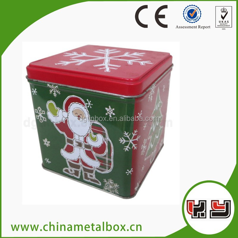 metal tin chrismas gift box, metal gift box