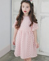 Girls Boutique Dress Children's Long One Piece Fancy Wedding Dress In Cheap Price