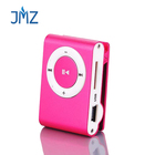 Promotion Gift Mini Portable Aluminum card MP3 With clip Micro TF SD Card Slot Cheapest MP3 Player