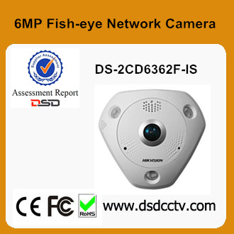 High Resolution 6MP Hikvision Fish-eye IP Network Camera DS-2CD6362F-IS