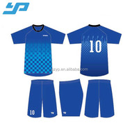 Best Quality Cheap Plain Custom Design Polyester Sublimation Blank Jersey Football