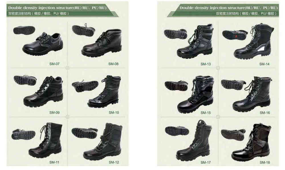 Army boots French Style ranger boots black genuine leather tactical boots
