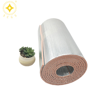 self adhesive aluminium sheet silver glow insulation heat shield double sided foil bubble wrap insulation