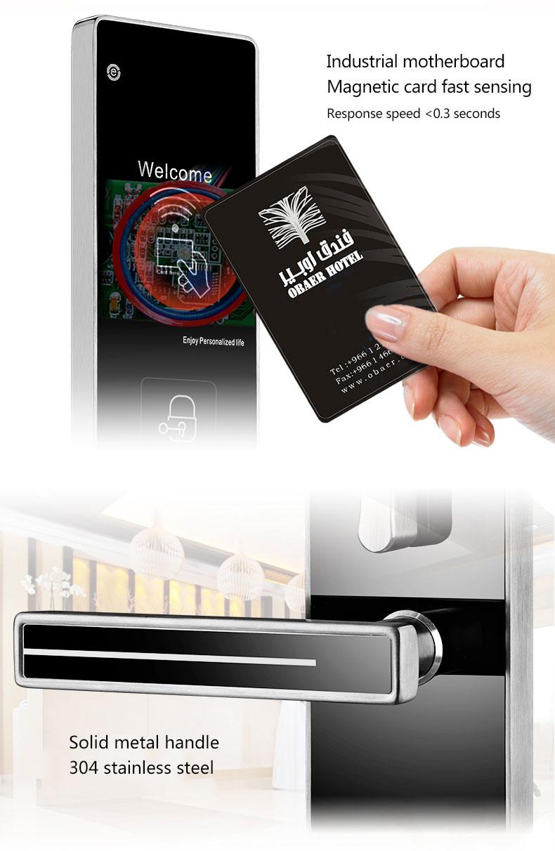 European style Card Keyless Electronic Hotel Door Lock Electric Cylinder RFID Lock