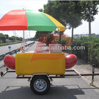 widely used high quality Mobile stainless steel fast food cart