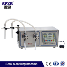 Double gear pump digital manual bottle liquid filler 10L/min each pump 316L stainless steel