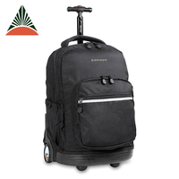 Portable Polyester Outdoor Travel Trolley Wheels Sports Backpack