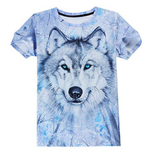 New style Casual Organic full 3D Print Animal Short Sleeve T-Shirt Graphic Tees for men
