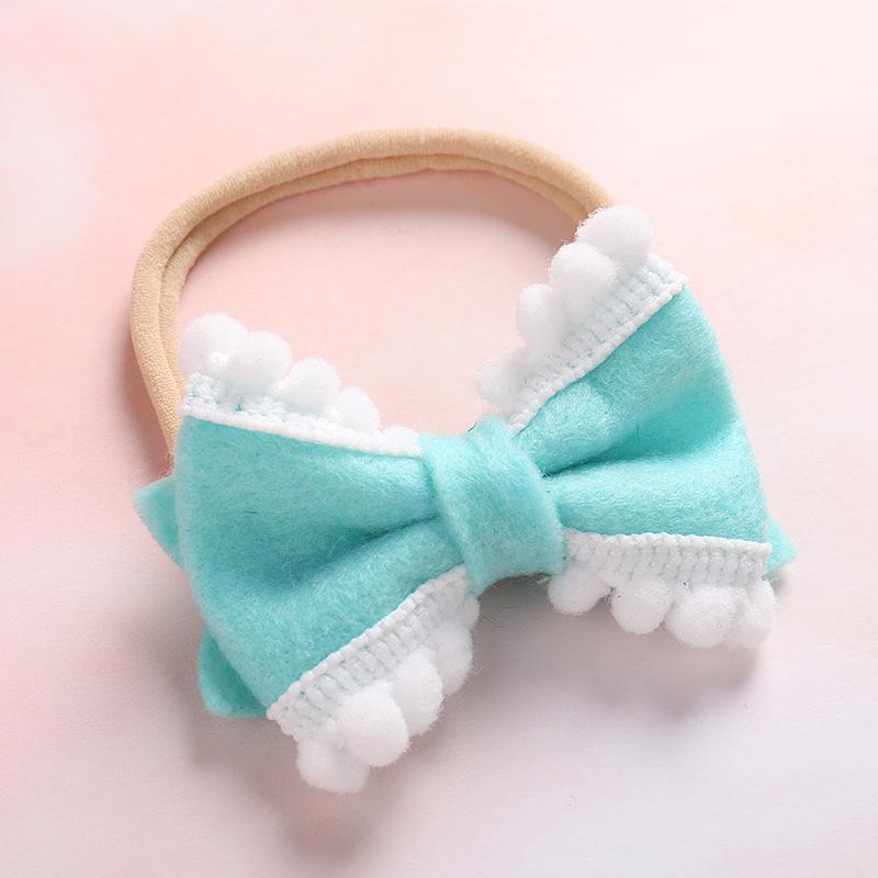 736277a621c28 2019 nouveau simple et mignon feutre bowknot boule petite fille décontracté  bandeaux enfants accessoires de cheveux