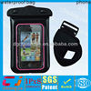 Fashionable black pvc phone waterproof bag for iphone 5 5s
