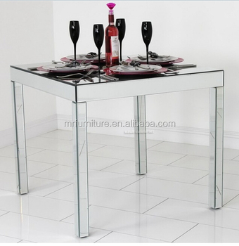 Square Venetian Mirrored Dining Table Furniture