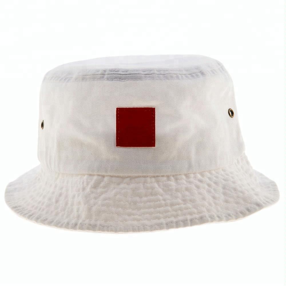 Cheap Bucket Hats Plain White Cotton Bucket Hat Beach Hat For Men ... 116c02c8764
