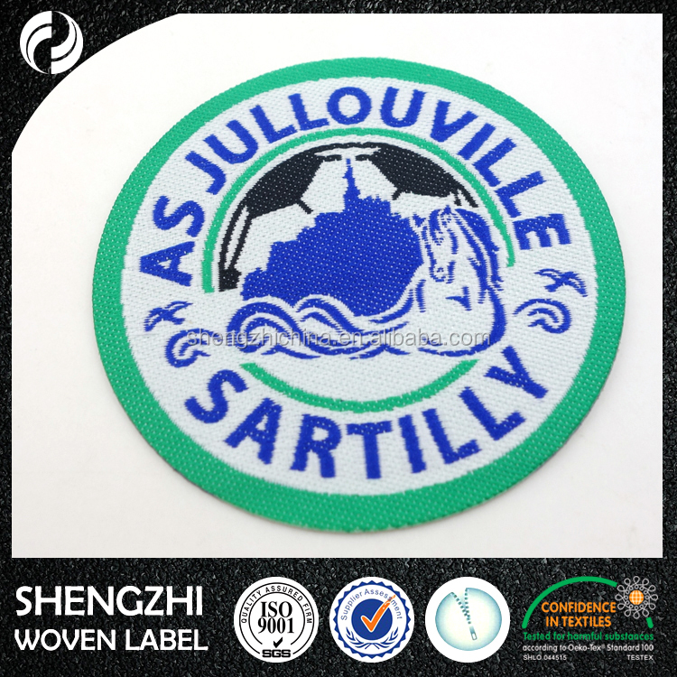 customized laser cut logo fabric adhesive woven patch