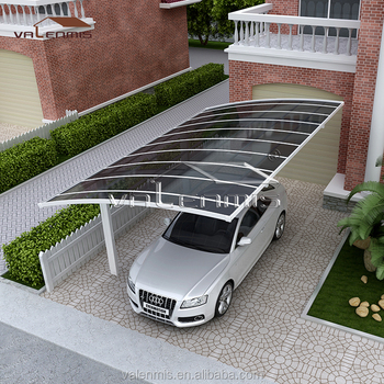Cantilever carport car shed with polycarbonate roof design for Car porch roof design