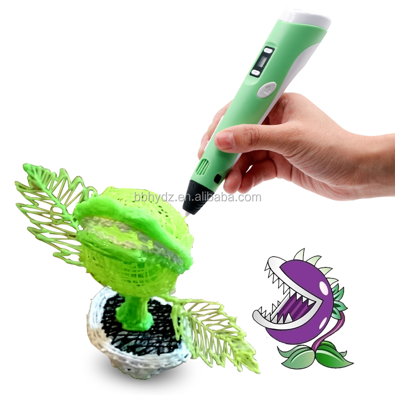 Best UV Cool Ink 3D Printer Pen 3D Functional kids-safety drawing pen teaching tool for math, arts, design