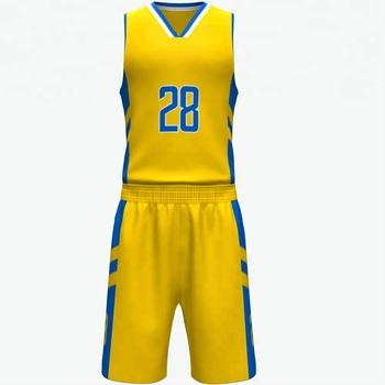 190d86bac10 Classic Custom Names Sublimation basketball jersey uniform design color  yellow