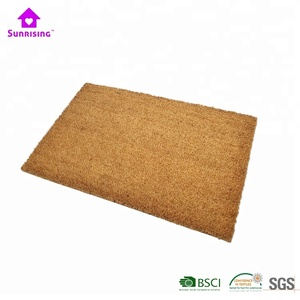 brown coir husk plain coco doormat