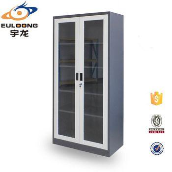 Anti Corrosive Laboratory Equipment Large Glass Door Storage Cabinet