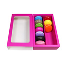 clear window macaron packaging box wholesale baking cake boxes kraft drawer gift packing box in stock on sale