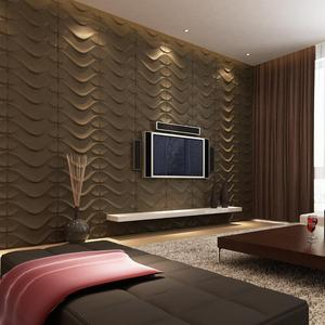 Commercial Hotel fixed interior wall decorative panel/ 3d wall covering for lounge decoration