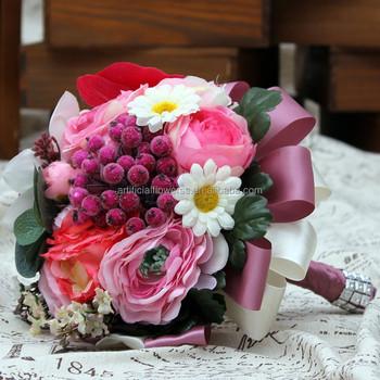 Artificial Fabric Flowers Daisy Rose Diy Wedding Bridal Bouquet 15 Buy Artificial Daisy Wedding Bouquet Artificial Rose Product On Alibaba Com