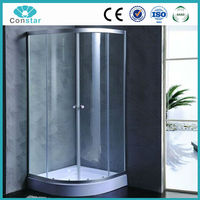 90x90 regular round shape safety tempered glass excellent easy install hydro shower enclosure