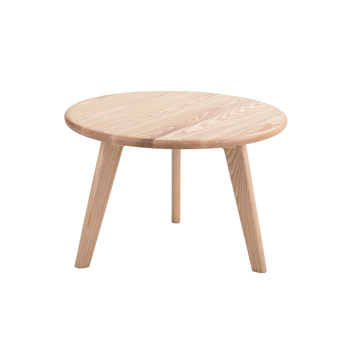 Round Natural Wood Coffee Table 4