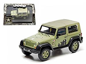 2012 Jeep Wrangler U.S. Army Hard Top Light Green With Display Showcase 1/43 Model by Greenlight