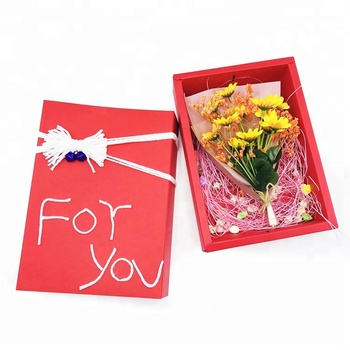 Handmade Romantic Country Feel Bow Birthday Present For Girlfriend Boyfriend Parents Eternal Flower Gift Boxes Buy Flower Gift Boxes Handmade