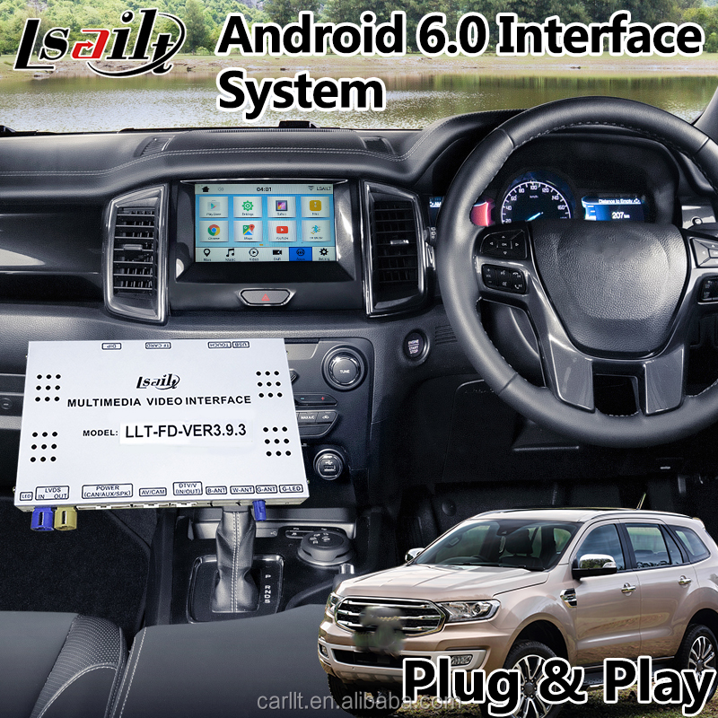 Android 7.1 Multimedia Interfaccia Video per Ford Everest/Tourneo/Fiesta di Sincronizzazione 3 Sistema di GPS box di navigazione da Lsailt