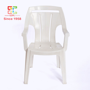 Quality Primacy White Stackable Dinning Plastic Chair With handles