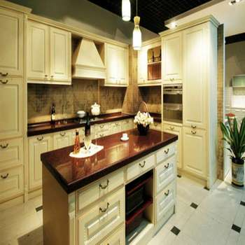 Solid Wood Kitchen Cabinet Modular Solid Wood Kitchen Cabinet White