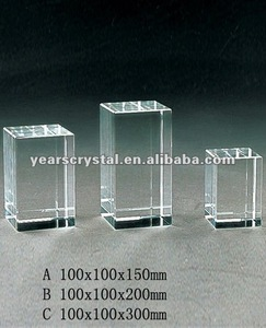 clear crystal cubes sheets with engraved for crystal trophy and award (R-0423)