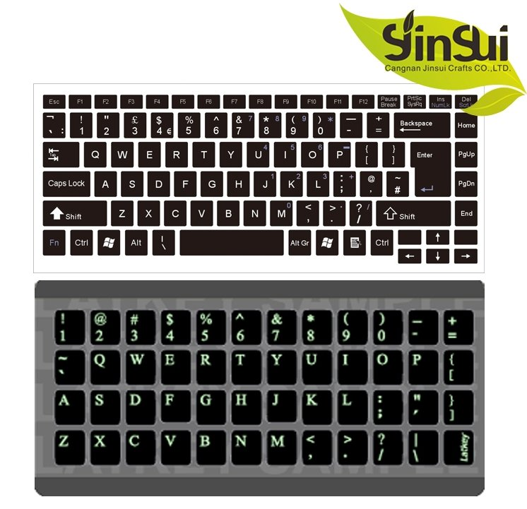 laptop Brand factory custom laptop keyboard skins sticker