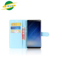 Ultra Slim Shockproof Raised Edge Protective PU Leather Case Cover for Samsung Galaxy Note 8