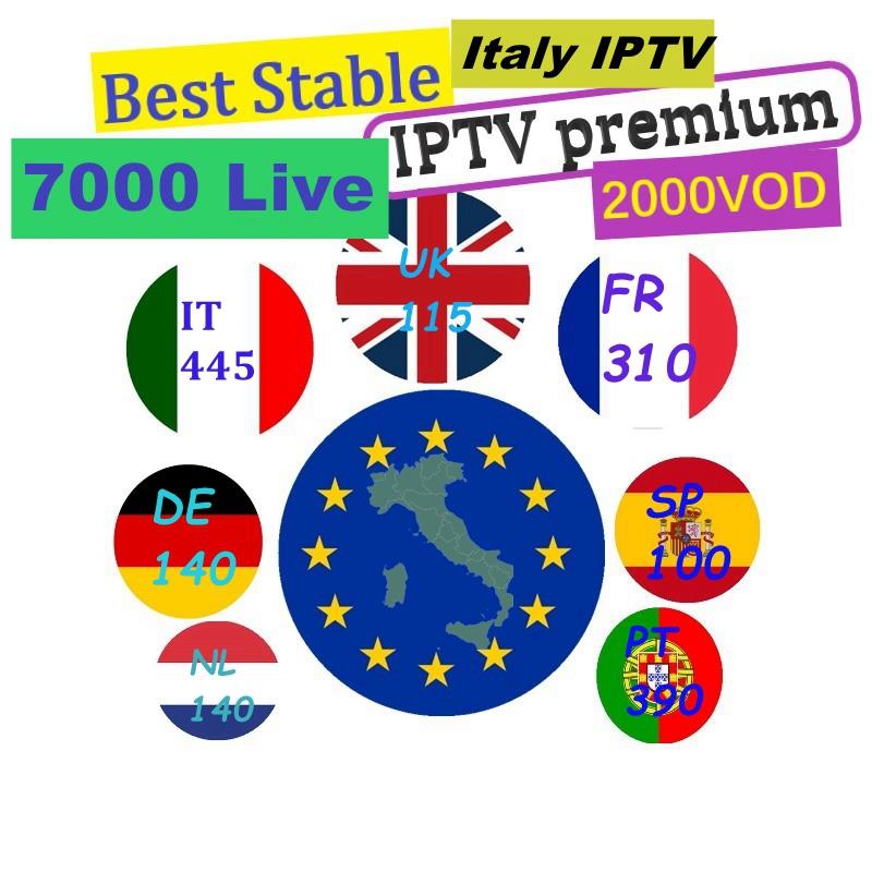Italia Iptv 12 Months Usa Italy Portugal Spain 40+ Country 7000+ Channels  Italian Iptv M3u Subscription Reseller Panel - Buy Iptv Italia,Iptv