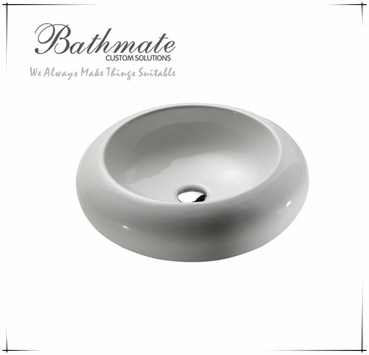 2016 Ceramic Bathmate Above Counter Art Basin